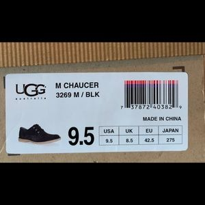 UGG Shoes - UGG Chaucer Black Suede Lace Up Casual Shoe